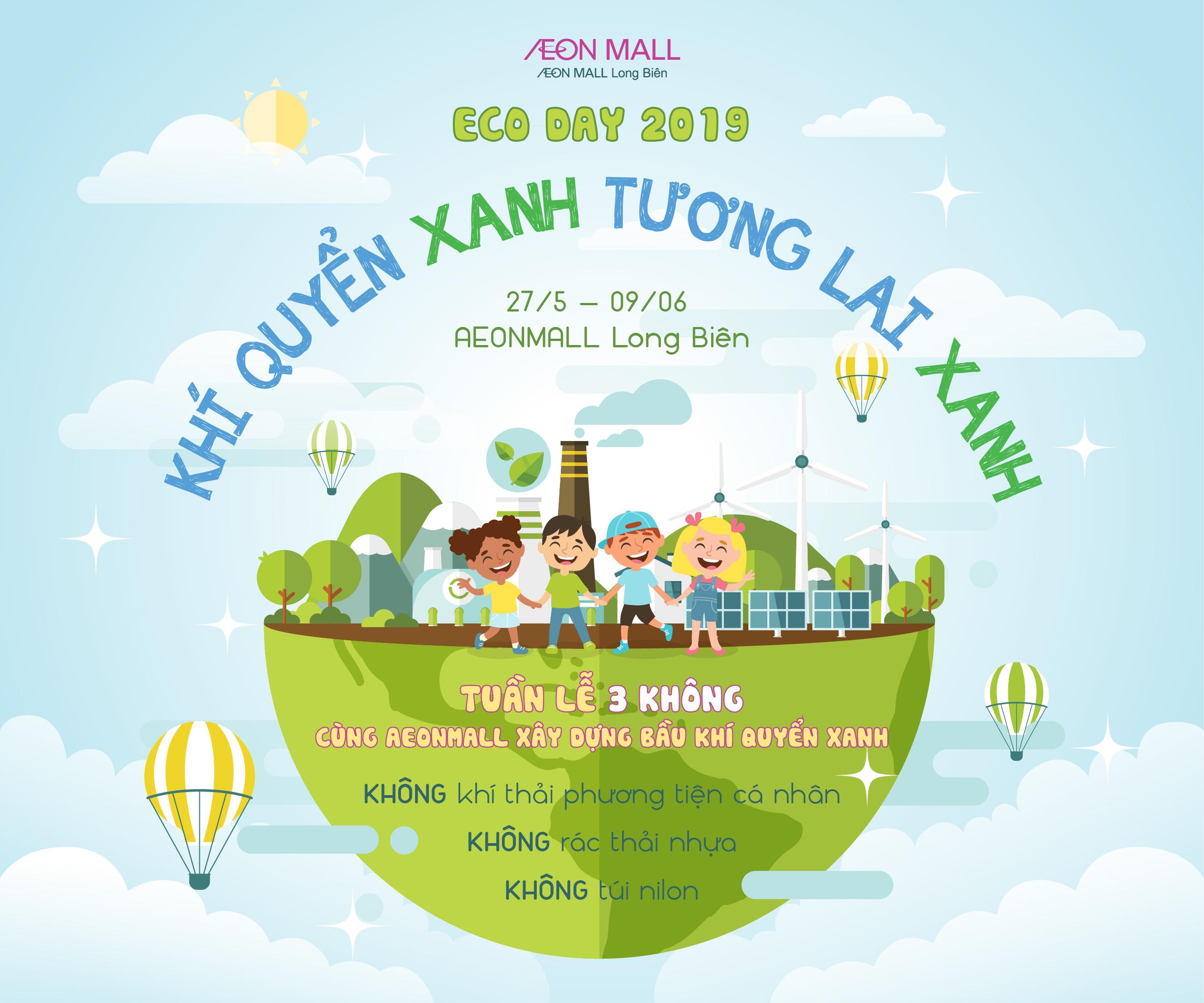 Sự kiện tại AEONMALL LONG BIÊN - Ecoday 2019 - Dựng khí quyển xanh - Giữ tương lai xanh