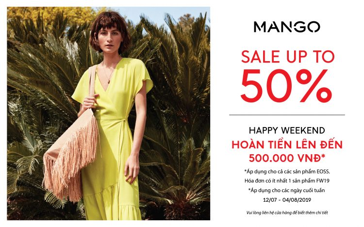 MANGO HOÀN TIỀN SHOPPING – CUỐI TUẦN ƯU ĐÃI ĐẾN 50%