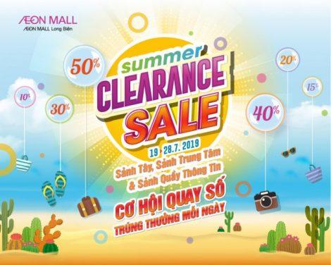 Chương trình khuyến mãi lớn nhất mùa hè CLEARANCE SALE