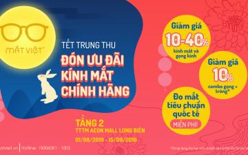 Mắt Việt giảm giá đến 40% toàn bộ kính mắt