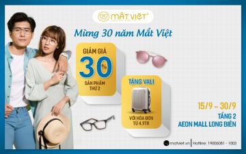 khuyến mãi tại Mắt Việt AEON MALL Long Biên