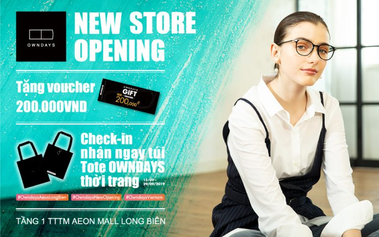 NEW STORE OWNDAYS OPENING NHẬN NGAY VOUCHER 200.000Đ