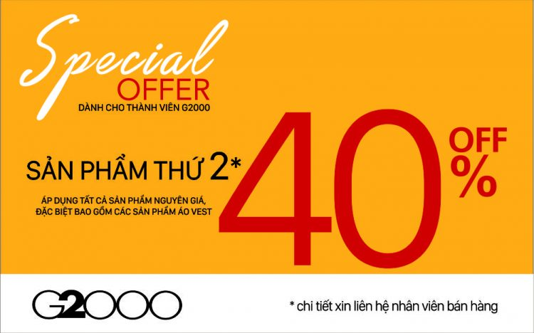 Sale up to 50% tại G2000