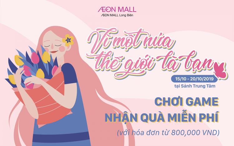 Game mừng 20/10 tại AEON MALL Long Biên