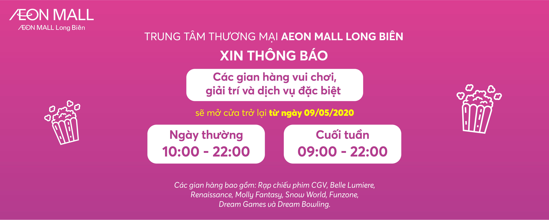 AEON MALL Long Biên mở cửa toàn bộ TTTM